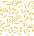 Pasta Seamless Pattern Isolated on White vector image vector image