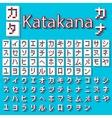 Pixel Japanese Katakana vector image vector image