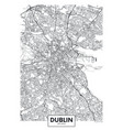 poster detailed city map dublin vector image
