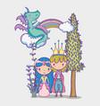 princess and princess cute hand drawing cartoon vector image