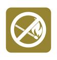 Prohibition open flame symbol vector image