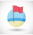 red flag flat icon vector image vector image