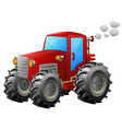 red tractor on white backround vector image