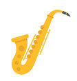 saxophone flat icon music and instrument vector image