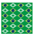 Seamless pattern with Brazilian flag vector image vector image