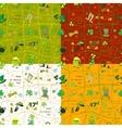 Set Irish st patrick day seamless pattern with vector image