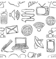 sketch seamless communication pattern vector image vector image