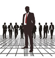 Traders headed by the chief vector image vector image