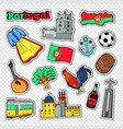 travel to portugal stickers badges and patches vector image vector image