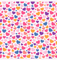 valentines day colorful heart seamless pattern vector image vector image