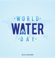 world water day simple letter vector image vector image