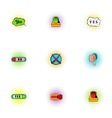 Yes no choice icons set pop-art style vector image vector image