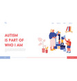 young woman and little boy with autism syndrome vector image
