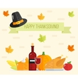 Happy Thanksgiving day card Thanksgiving flat vector image