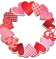 paper heart frame vector image
