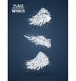 Particles of Wings set full enterprising across vector image