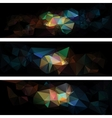 triangular style abstract background of triangles vector image