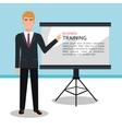business training design vector image