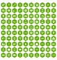 100 business group icons hexagon green vector image vector image