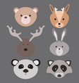 a set of cartoon animals for vector image