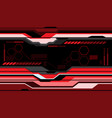 abstract red futuristic technology monitor vector image