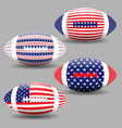 american football ball with flag usa isolated vector image