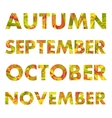 Autumn Months Names vector image vector image
