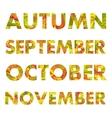 Autumn Months Names