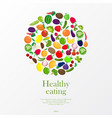 background with fruit and vegetables vector image vector image