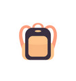 backpack on white icon vector image vector image