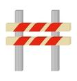 barrier caution danger road sign vector image vector image