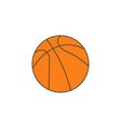 basketball ball solid icon sport graphics vector image vector image