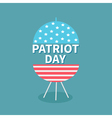 bbq grill patriot day Flat vector image
