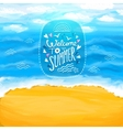 Beach sea sand Summer background vector image