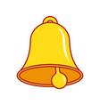 bell icon alarm vector image vector image