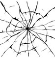 black and white background of broken glass vector image vector image