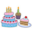 cake collection vector image vector image