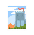cartoon landscape with magnificent castle vector image vector image
