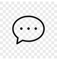 chat icon simple chat sign in modern design vector image