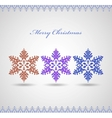 christmas card with snowflakes on a white vector image vector image