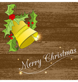 Christmass card with bell vector image