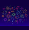 colorful celebration festive fireworks vector image vector image