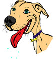 cute painted cartoon american pit bull stuck out vector image vector image