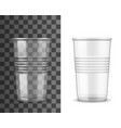 disposable plastic cup takeaway cold drinks vector image