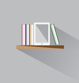 E-book on a shelf vector image
