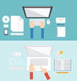 element computer concept icon in flat design vector image vector image