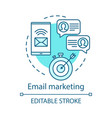 email marketing blue concept icon digital vector image vector image