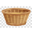 empty wicker basket for flowers nest on vector image vector image