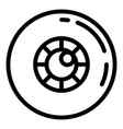 eye lens icon outline style vector image