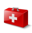 first aid box on white vector image